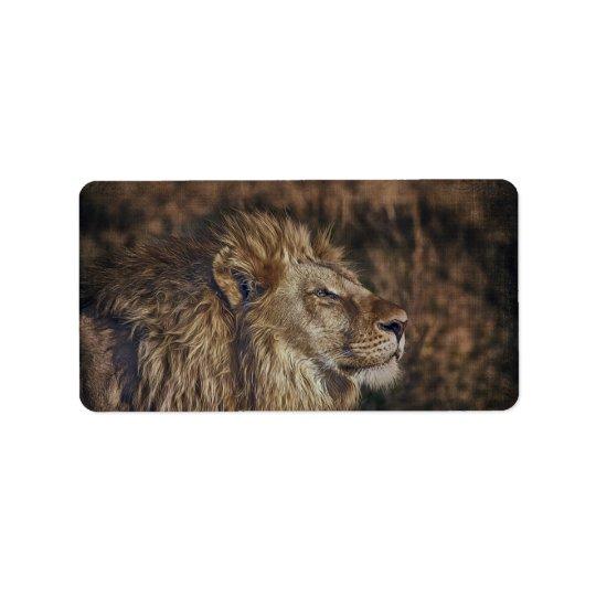 Majestic Lion Address Label