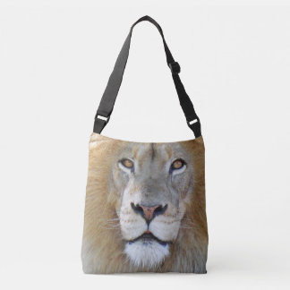 Majestic Lion Close Up Crossbody Bag