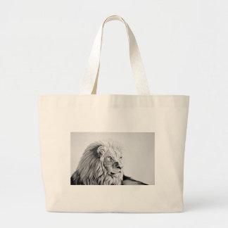 Majestic Lion Large Tote Bag