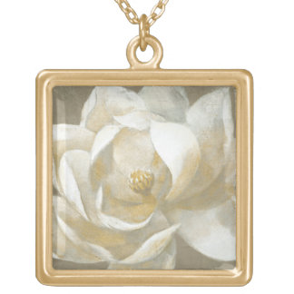 Majestic Magnolia Gold Plated Necklace
