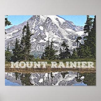 Majestic Mount Rainier, Washington State Poster
