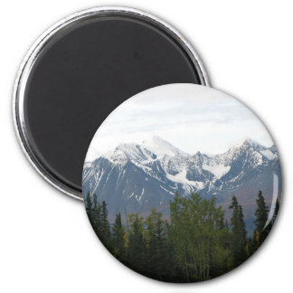 Majestic Mountains of Magnificence Button Fridge Magnet