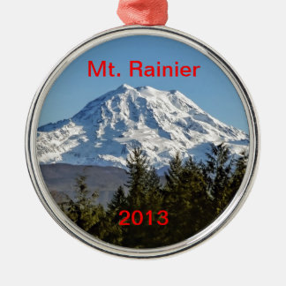 Majestic Mt. Rainier Metal Ornament