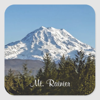 Majestic Mt. Rainier Square Sticker