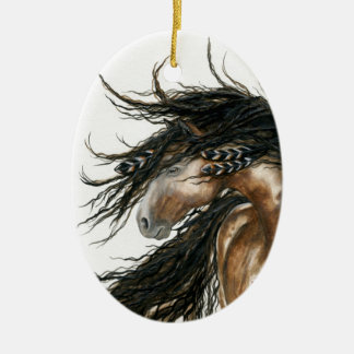 Majestic Mustang Horse by BiHrLe Ornament
