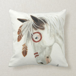 Majestic Mustang Horse by BiHrLe Pillow
