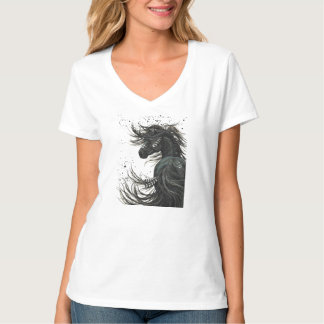 Majestic Mustang Horse by BiHrLe t-shirt