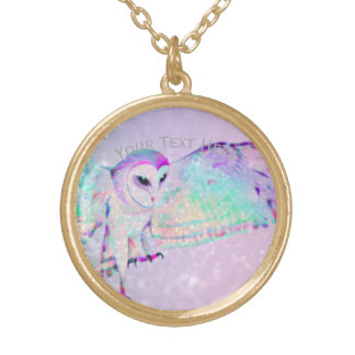 Majestic Owl Gold Plated Necklace