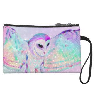 Majestic Owl Suede Wristlet