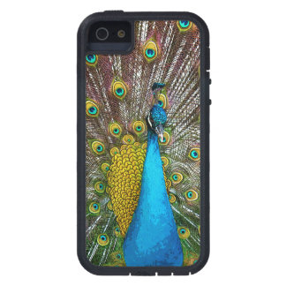 Majestic Peacock Bird in iridescent shades iPhone 5 Cover