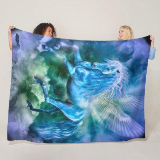 Majestic Pegasus Fantasy Horse Plush Fleece Blanket