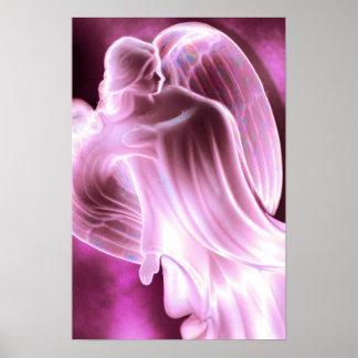 Majestic Pink Angel canvas print