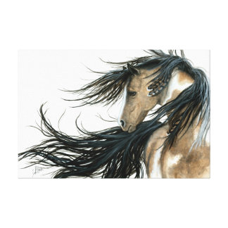 Majestic Pinto Horse Art by Bihrle Canvas Print