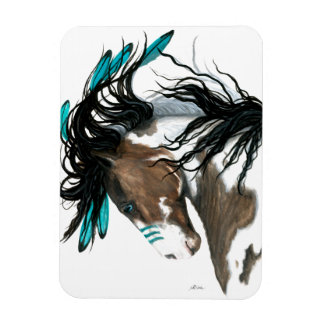 Majestic Pinto Horse by Bihrle Rectangular Photo Magnet