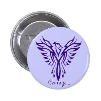 Majestic Purple Phoenix Rising badge / button