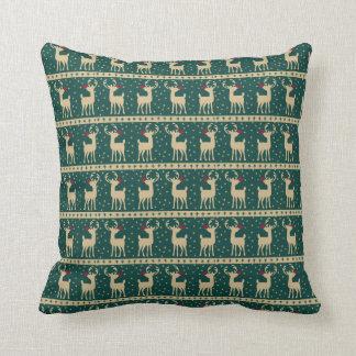 Majestic Rudolph Christmas Throw Pillow