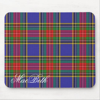Majestic Scottish Clan MacBeth Tartan Mouse Pad