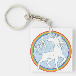 Majestic Sparkle Rainbow Unicorn Key Ring