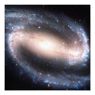 Majestic Spiral Galaxy Print Milky Way Andromeda 13 Cm X 13 Cm Square Invitation Card
