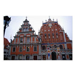 Majestic Town Hall Riga, Latvia Photo Art