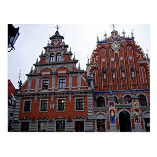 Majestic Town Hall Riga, Latvia Postcard