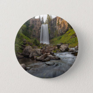 Majestic Tumalo Falls in Central Oregon USA 6 Cm Round Badge