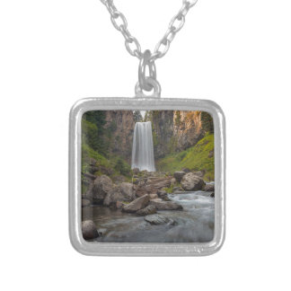 Majestic Tumalo Falls in Central Oregon USA Silver Plated Necklace