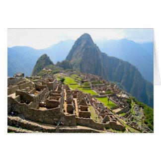 Majestic View of Macchu Picchu Card