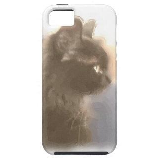 Majestic watercolor black cat iPhone 5 cases