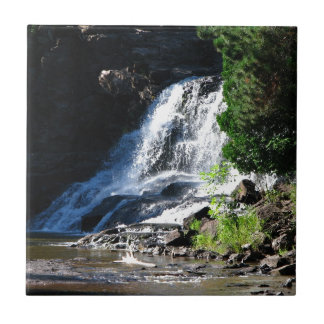 Majestic Waterfall at Gooseberry Falls – Nature Small Square Tile
