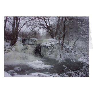 Majestic Waterfall Christmas Card