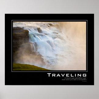 Majestic Waterfall Travel Inspiration Poster