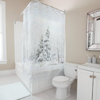 Majestic White Spruce in the Gardens Shower Curtain
