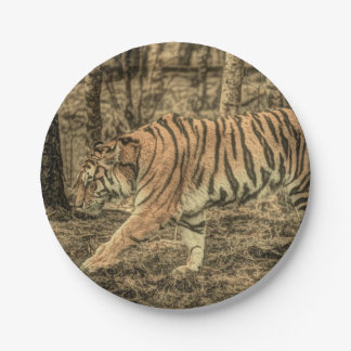Majestic Wild Tiger 7 Inch Paper Plate
