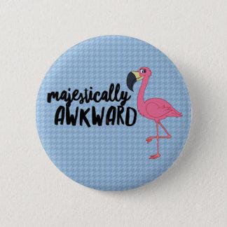 Majestically Awkward Flamingo 2¼ Inch Round Button