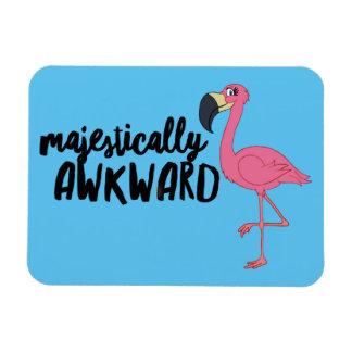 "Majestically Awkward Flamingo 3""x4"" Photo Magnet"