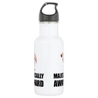 Majestically Awkward Flamingo 532 Ml Water Bottle