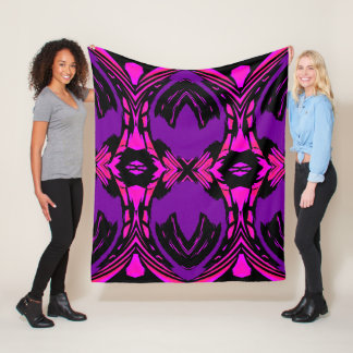 Majesty on Pink/Purple/Black Fleece Blanket