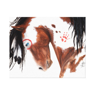Majetic Paint Horse Art by BiHrLe Canvas Print