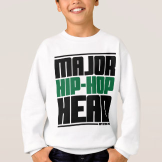 Major Hip Hop Head Green Sweatshirt