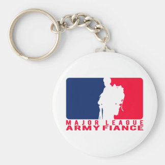 Major League Army Fiance Basic Round Button Key Ring