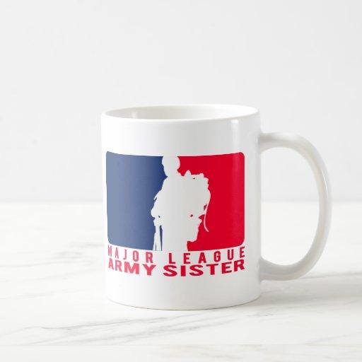 Major League Army Sister Coffee Mugs