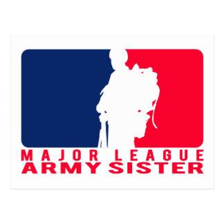 Major League Army Sister Postcard