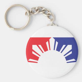 Major League Filipino Flag - Half Basic Round Button Key Ring