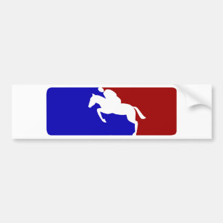 Major League Horse Racing Bumper Sticker