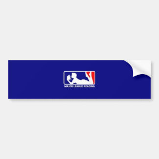 Major League Reading Bumper Sticker