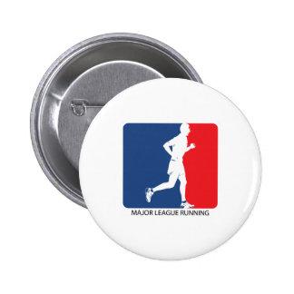 Major League Running Pinback Buttons
