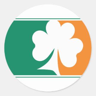 Major League Shamrock - Irish Colors Round Sticker