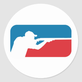 Major League Shooter Round Sticker