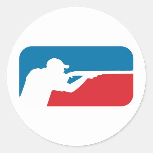 Major League Shooter Round Sticker